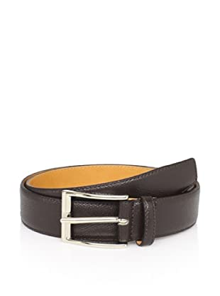 Leone Braconi Men's Printed Calfskin Belt (Brown)