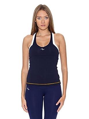 Naffta Camiseta Tenis / Padel (Azul Marino / Blanco)