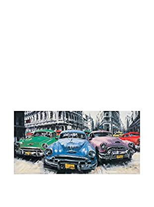 ARTOPWEB Panel Decorativo Massa Classic American Cars in Havana 50x100 cm
