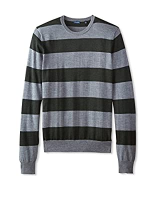 Thirty Five Kent Men's Merino Striped Crew Neck