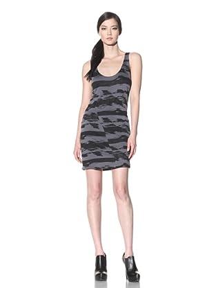 Improvd Women's Printed Jersey Dress (Black/Dark Grey)