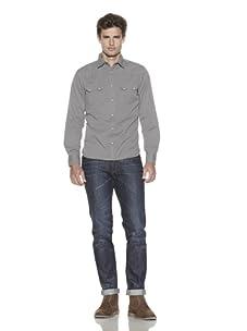 Just A Cheap Shirt Men's The Business Cool Shirt (Khaki)