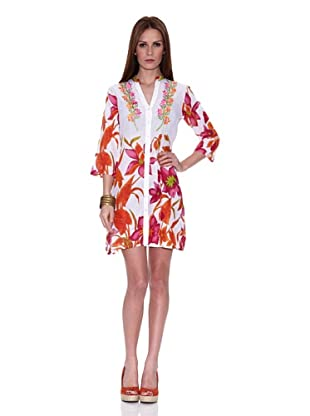 HHG Vestido Cher (Blanco / Naranja)