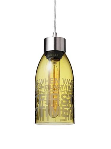 Inhabit Reclaimed Bottle Pendant Light (First Time)