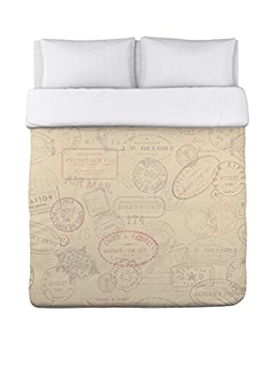 One Bella Casa Traveling Stamps Duvet Cover