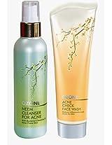 Anti Acne Kit(Acne Check Face Wash 100Ml+Neem Cleanser 100Ml) Ozone Ayurvedics