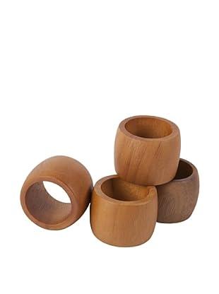Core Acacia Classic Napkin Ring Set