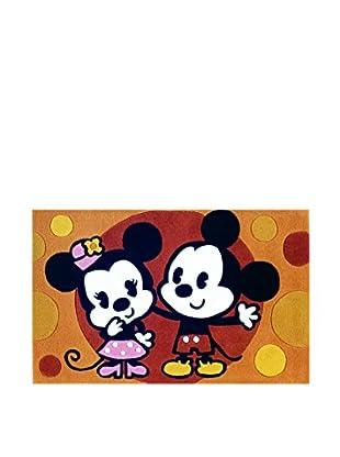 Abc Alfombra Mechón Mano Mickey Mouse Naranja 69 x 108 cm