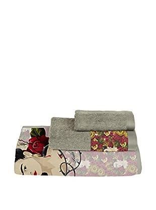 ReallyNiceThings Set Toalla 3 Uds. Frida Flowers