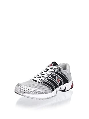 K-SWISS Men's K-Ona C Running Shoe (Silver/Black/True Red)