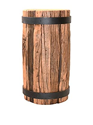 filling spaces Tall Black Fittings Side Stool, Brown
