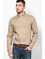 Khaki Regular Fit Casual Shirt Tommy Hilfiger