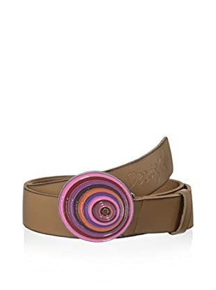 Desigual Women's Swirl Belt, Brown Multi (Brown Multi)