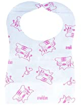 Farlin Toddler Paper Bib (Pink)