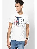 Off White Round Neck T-Shirt
