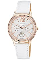 Casio Sheen multifunction Analog White Dial Women's Watch - SHE-3030GL-7AUDR (SX089)