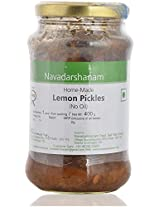 Navadarshanam Homemade No Oil Lemon Pickle, 400 grams