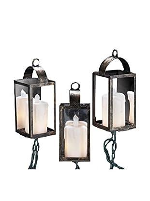 Kurt Adler 10-Light Antiqued Lantern Set