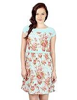 Floral Cap Sleeved Dress