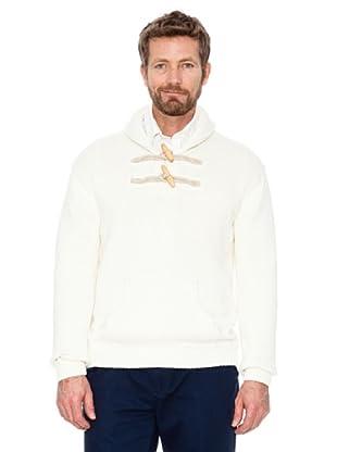 Cortefiel Pullover Unifarben (Weiß)