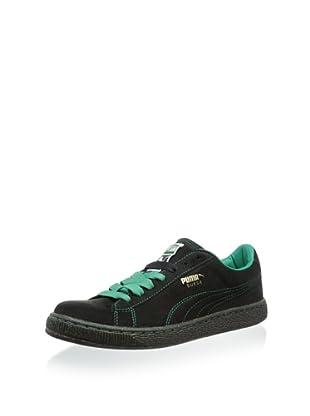 PUMA Men's Suede Classic Sneaker (Black/Greenlake)