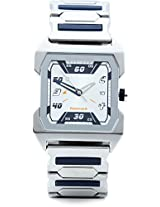 Fastrack Party Analog Watch - For Men Silver Blue - 1474SM01