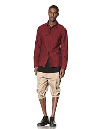 B: Scott Men's Flannel Workman Shirt (Red)