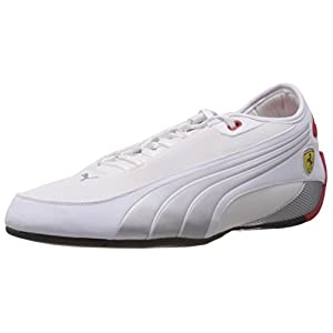 Puma Men's Alekto Low SF White, Silver and Rosso Corsa Sneakers