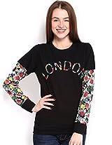Espresso Women's Sweatshirt (ESP-6022_Black _X-Large)