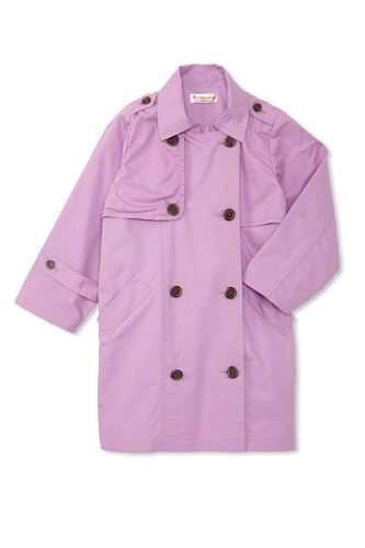 Hippototamus Trench Coat with Nylon Ripstop Back Panel (Lavender)