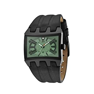 Police Men's PL-13420JSB/05B Dimension Rectangle Green Crystal Watch