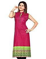 Pakistani Anarkali Long Printed Embroidery Kurtis (Size : XX-Large)