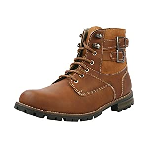 Classic Brown Colored Synthetic Material Boots for Men - Model Number 7900 & UK Size 9 by Bacca Bucci