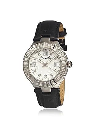 Bertha Women's BR1701 Evelyn Black/White Leather Watch