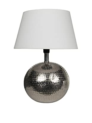 Filament Spherical Table Lamp, Silver/White