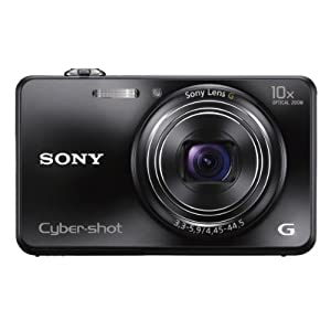 Sony Cyber-shot DSC-WX150 18.2MP Point and Shoot Camera (Black) with 10x Optical Zoom, 4GB Card and Camera Case