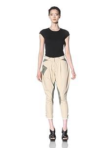 McQ by Alexander McQueen Women's Motorbike Pants (Cream)