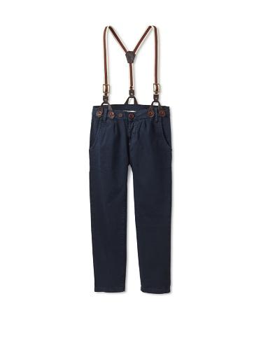 hitch-hiker Boy's Suspender Pants (Blue Navy)
