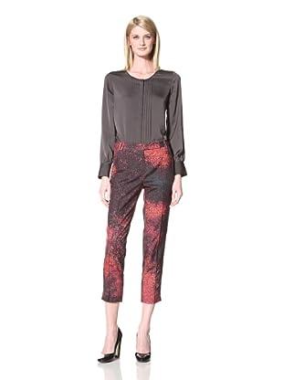 Halston Heritage Women's Cropped Pant (Plum)