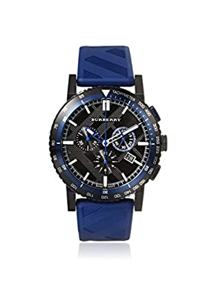 Burberry Men's BU9807 The New City Blue/Black Check Ion-Plated Steel Watch