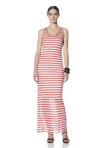 Yigal Azrouel Women's Striped Maxi Dress (Mars/Optic)