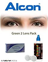 Ciba Vision Freshlook ColorBlends Green Color Contact Lenses By Visions India 2 Lens Pack 0.00