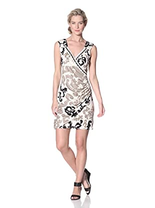 Hale Bob Women's Sleeveless V-Neck Wrap Dress (Ivory)