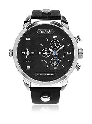 SO & CO New York Uhr mit japanischem Quarzuhrwerk Triple Time 52 mm