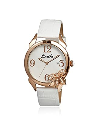 Bertha Women's BR2105 Bow White Leather Watch