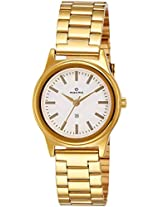 Maxima Analog White Dial Women's Watch - 34800CMLY