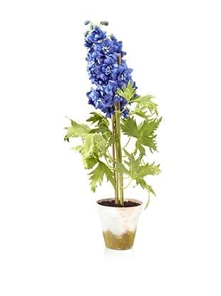 Winward Potted Faux Delpinium, Blue