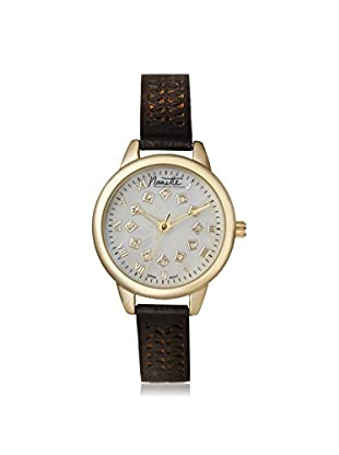 Nanette Lepore Women's 80704 Black/Mother of Pearl Alloy Watch