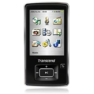 Transcend MP 870 8GB MP4 Player with 2.4-inch Screen (Black)