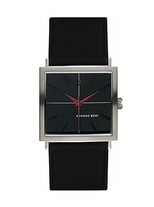 ARMAND BASI A0121G02 - Reloj de Caballero movimiento de cuarzo con correa de piel Negra